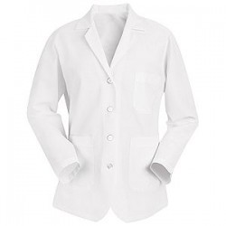 Red Kap KP11 Women's White Short Length Lab Coat