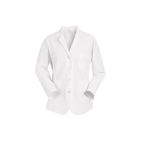 Red Kap KP11 Women's White Short Length Lab Coat