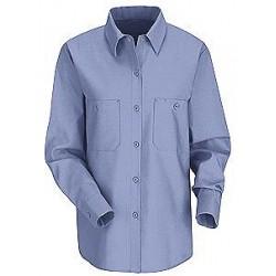 Red Kap SP13 Women's 4.25 oz., 65/35 Poly/Cotton Poplin Long Sleeve Industrial Work Shirt