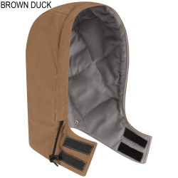 Bulwark HLH2BD, Men's Excel-FR™ ComforTouch® Brown Duck Universal Fit Snap-On Insulated Hood
