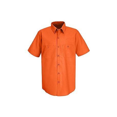 Red Kap SS24 Men's Hi-Visibility Safety Short Sleeve Work Shirt
