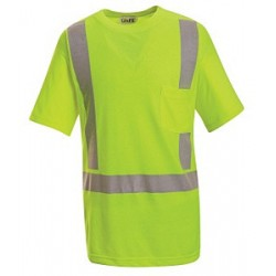 Red Kap SYK6HV, ANSI 107-2004 Class 2 Level 2 Hi-Visibility Short Sleeve T-Shirt