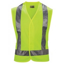 Red Kap VYV6YE, ANSI 107-2004 Class 2 Level 2 Compliant Hi-Visibility Safety Vest