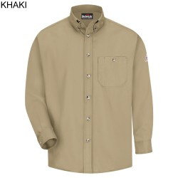 Bulwark SEG6, Excel-FR™ 5.25 oz. 100% Cotton Button Front Dress Uniform Long Sleeve Shirt