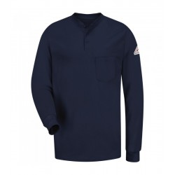 Bulwark SEL2, Excel-FR™ 6.25 oz. 100% Cotton, Long Sleeve Tagless Henley Shirt