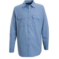 Bulwark SEW2, Excel-FR™ 7 oz. 100% Cotton Button Front Long Sleeve Work Shirt