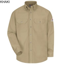 Bulwark SLU2, Excel-FR™ ComforTouch® 7 oz. 88% Cotton/12% Nylon, Dress Uniform Long Sleeve Shirt