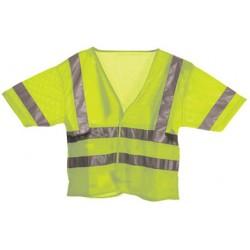 Berne HVV041YW, Hi-Visibility Mesh Short Sleeve Vest - Class 3 Certified
