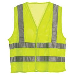 Berne HVV042YW, Hi-Visibility Mesh Economy Vest - Class 2 Certified