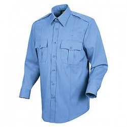 Horace Small-The Force HS1138, Men's 100% Polyester Sentry Plus Public Safety (No Zipper) Long Sleeve Dress Shirt