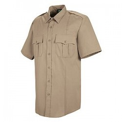 Horace Small-The Force HS1250, Men's 100% Polyester Sentry Plus Public Safety (With Zipper) Short Sleeve Dress Shirt