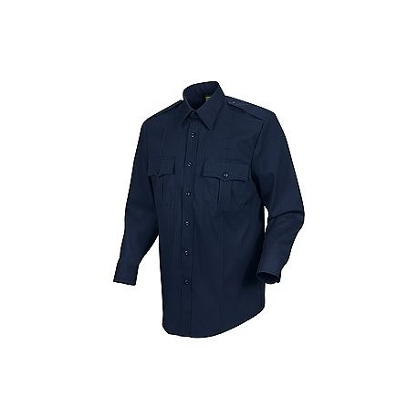 Horace Small-The Force HS1445, Men's 5 oz. 74/25 Poly/Wool Stretch (Dark Navy) Long Sleeve Public Safety Dress Shirt
