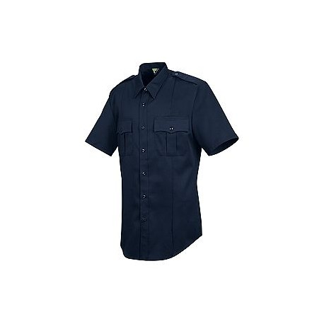 Horace Small-The Force HS1446, Men's 5 oz. 74/25 Poly/Wool Stretch (Dark Navy) Short Sleeve Public Safety Dress Shirt