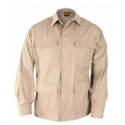 Propper F5454-38 Long Sleeve 4 Pocket Battle Rip 65/35 Poly/Cotton Ripstop BDU Shirt