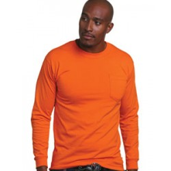 BA1730 5.4 oz. 50/50 Blend Long Sleeve Pocket T-Shirt