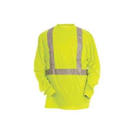 Berne HVK003, Hi-Visibility Long Sleeve Pocket Tee - Class 2 Certified
