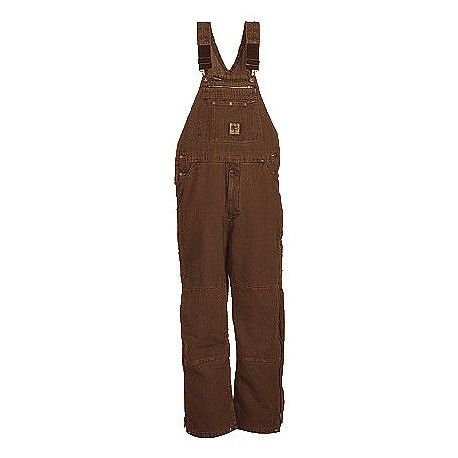 Berne B213, Traditional Washed Insulated Bib Overall Quilt Lined Zip to Knee
